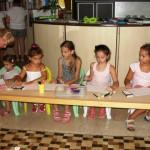Szkółka podczas zajęć ze stażystami, lato 2013